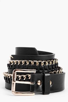 Betsy Chain Edge Boyfriend Belt