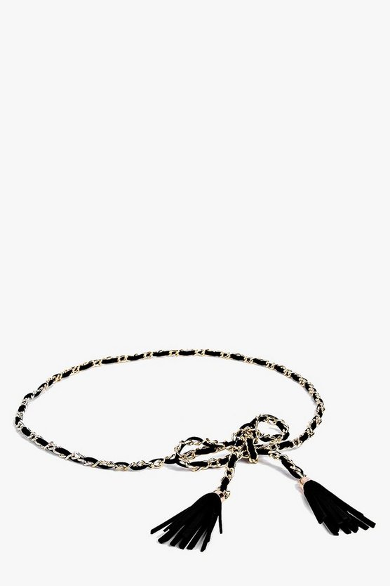 Heidi Chain And Tassel Rope Belt