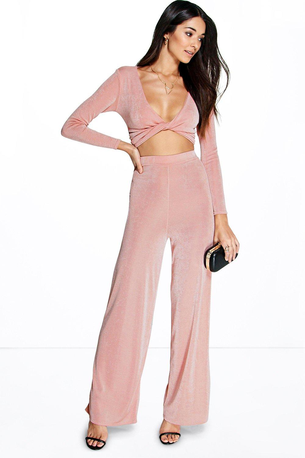 Tanesha Wrap Top and Palazzo Trouser Co-ord Set