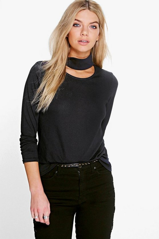 Faith Choker Neck Fine Gauge Jumper