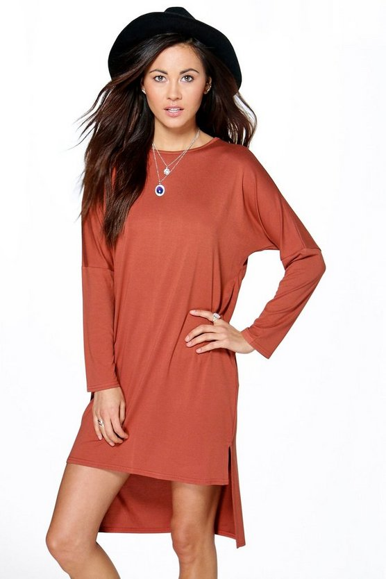 Leona Dip Hem Shift Dress