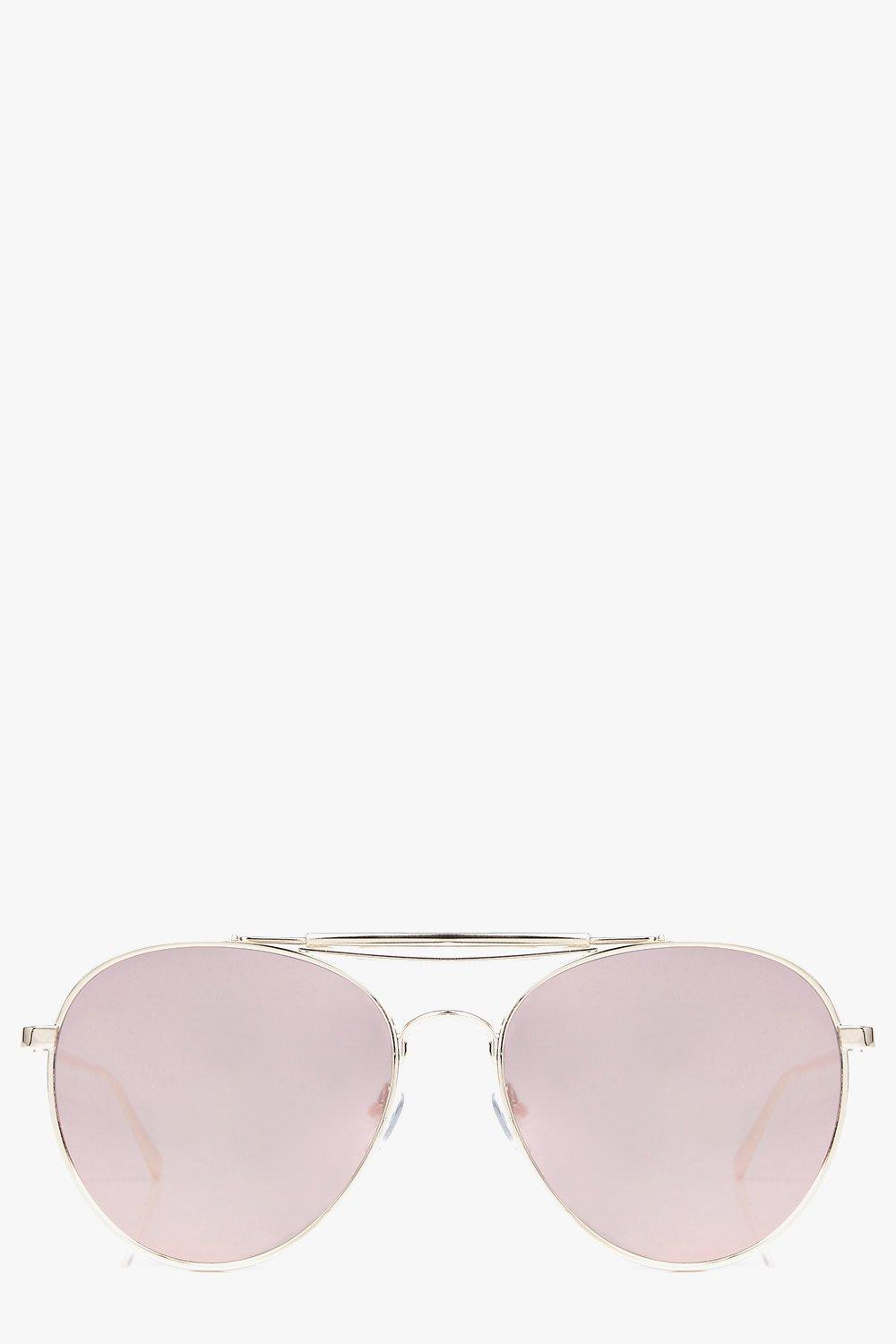 Lily Mirrored Double Brow Bar Aviator