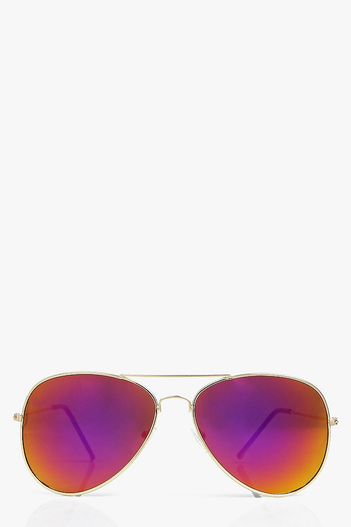 Faye Mirrored Aviator Fashion Glasses