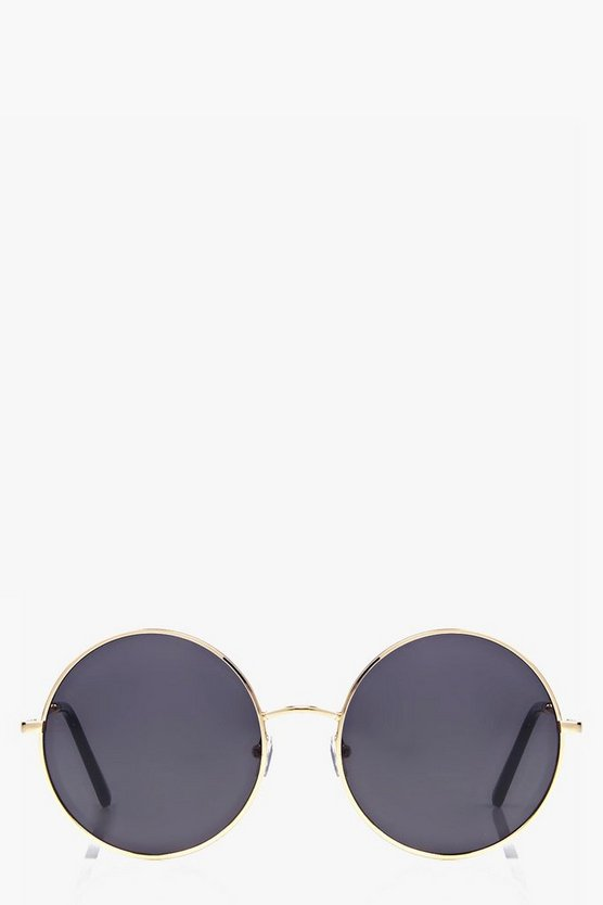 Bella Mirrored Lennon Round Sunglasses
