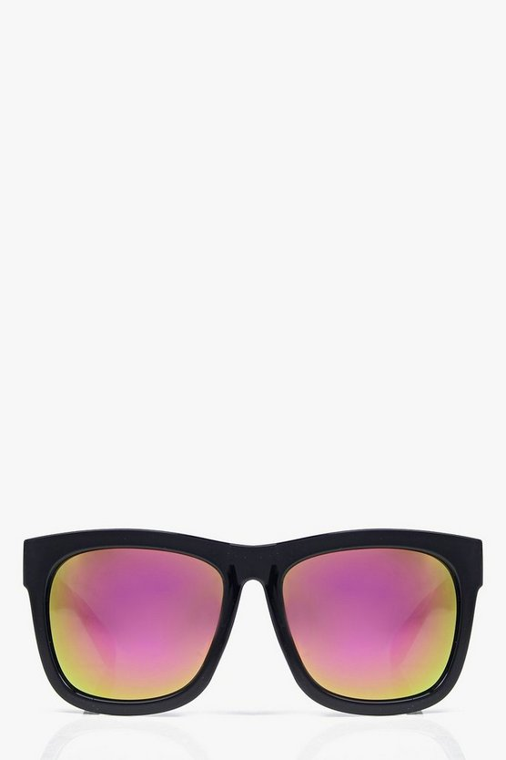 Mia Mirrored Oversized Wayfarer Sunglasses