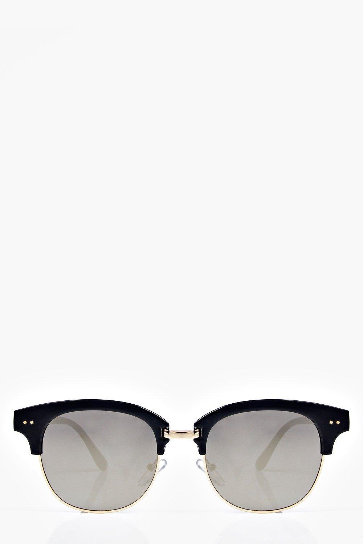 Wayfarer Glasses Half Frame : Boohoo Womens Eva Mirrored Half Frame Wayfarer Sunglasses ...