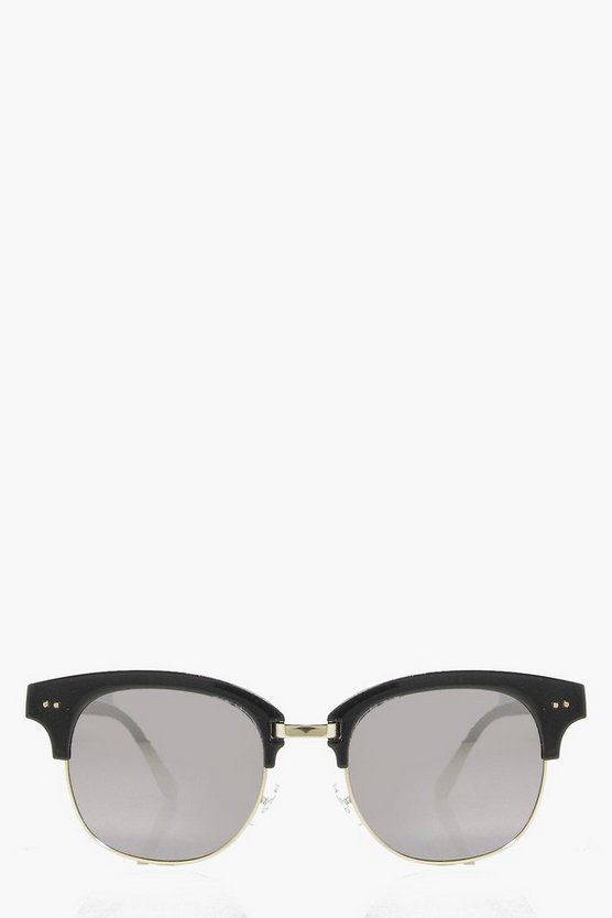 Eva Mirrored Half Frame Fashion Glasses