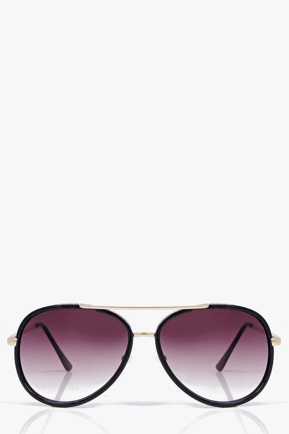 Darcy Metal Detail Aviator Sunglasses