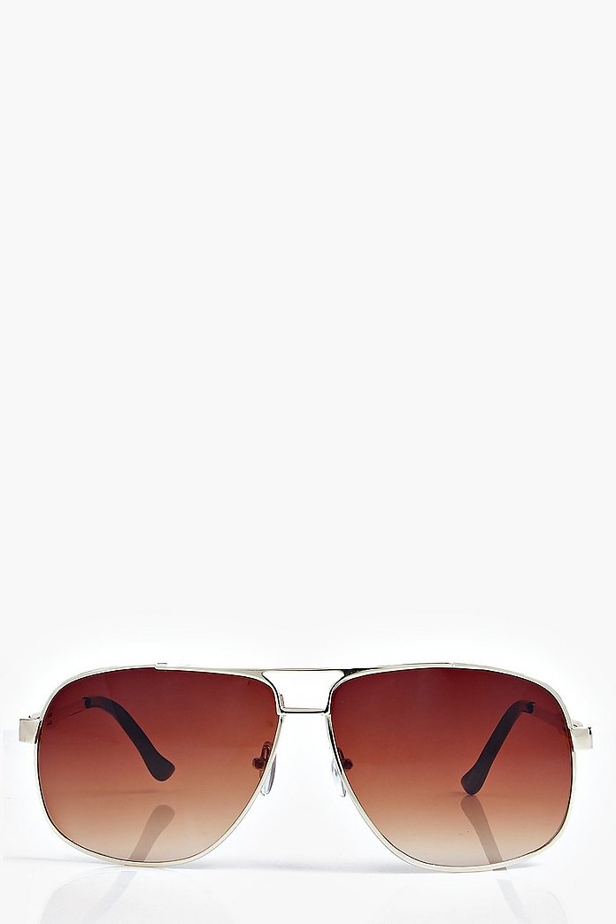 Vanessa Flat Brow Aviator Sunglasses