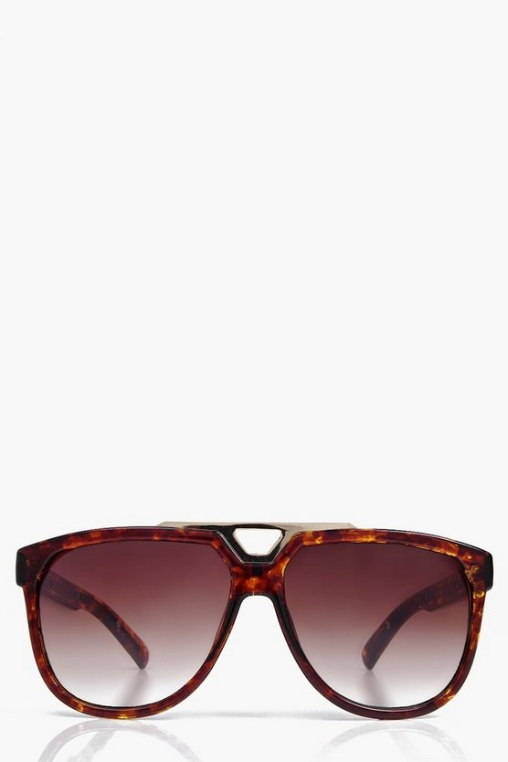 Tilly Metal Detail Wayfarer Sunglasses