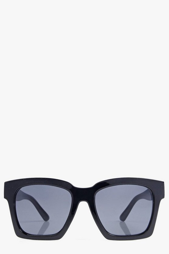 Violet Mirrored Oversize Square Wayfarers