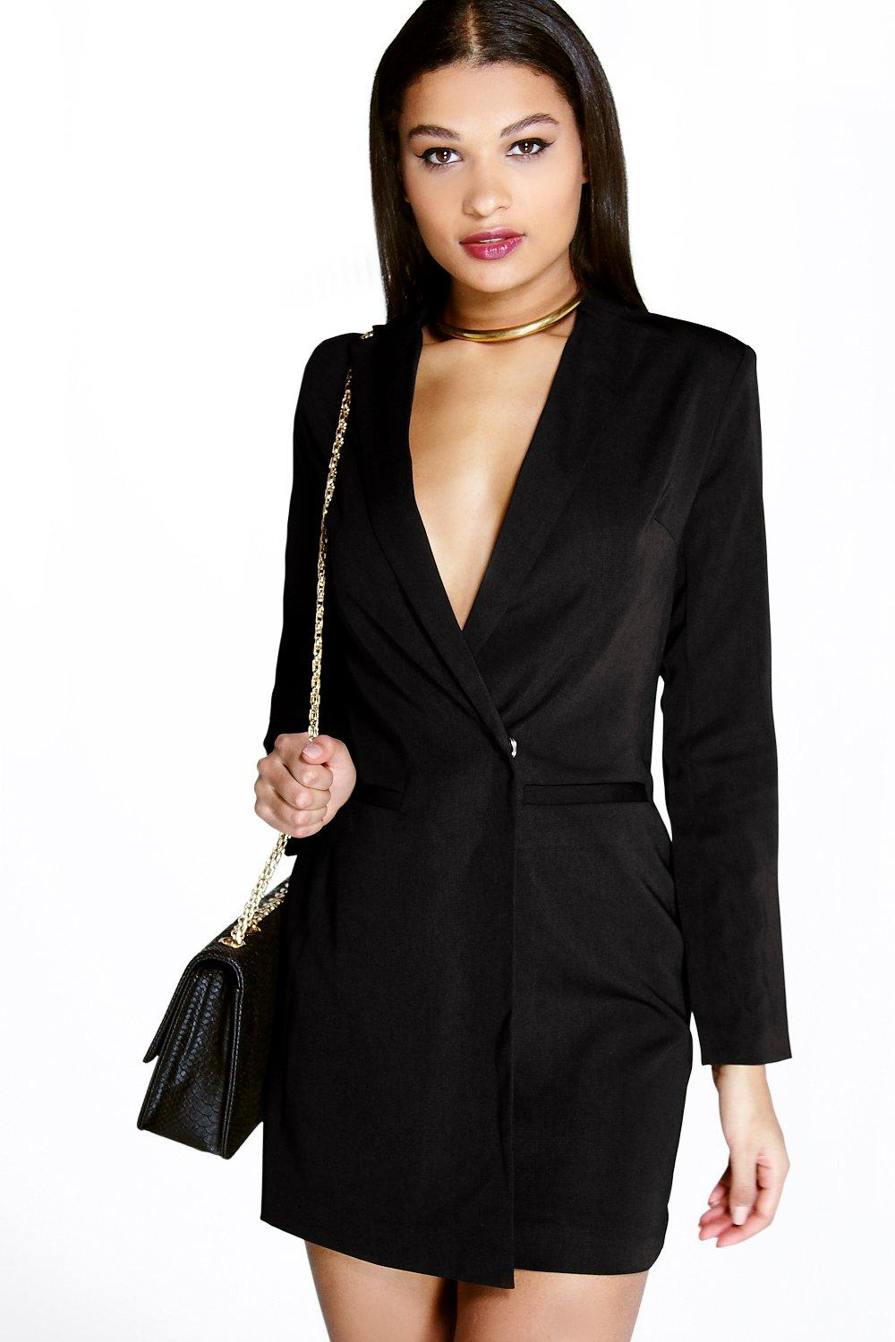 Boutique Leora Cross Front Blazer Dress