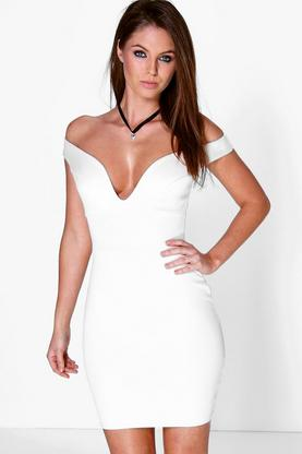 Cara Sweetheart Off The Shoulder Bodycon Dress