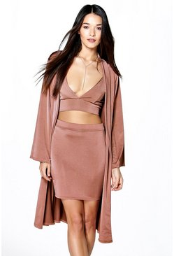 Cass Mini Skirt  Bralet & Drape Jacket Co-Ord Set