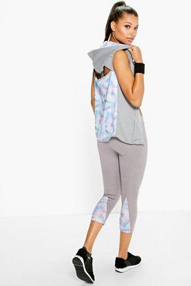 Lois Fit 3/4 Leaf Panel Print Sports Legging