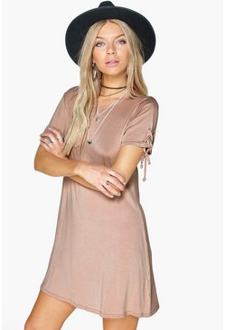 Taylor Lace Up Sleeve Shift Dress