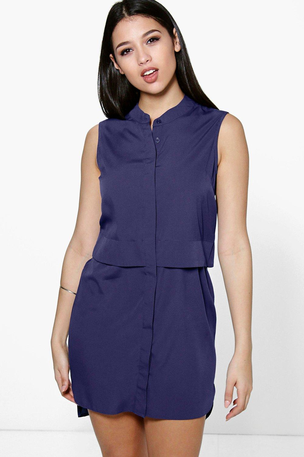 Hollie Double Placket Woven Shirt Dress