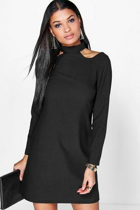 Arianna Cold Shoulder Shift Dress
