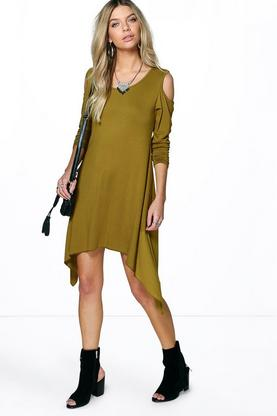 Emma Asymmetric Cold Shoulder Dress