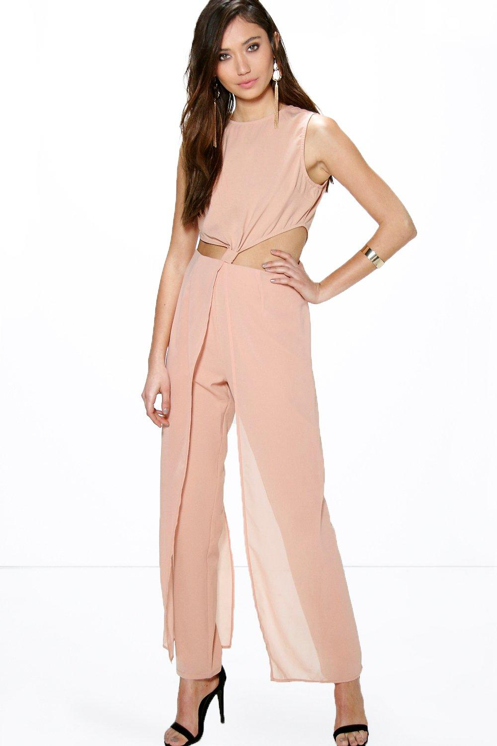 Marsa Knot Draped Jumpsuit