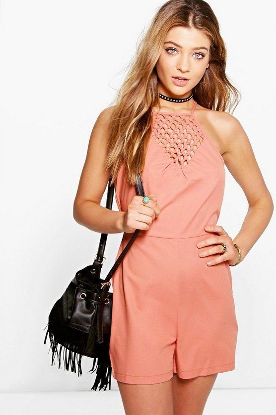 Royah Knot Front Playsuit