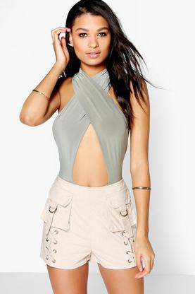 Aurelia Pocket Front Faux Suede Shorts