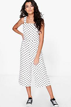 Arabella Polka Dot Cut Side Jumpsuit
