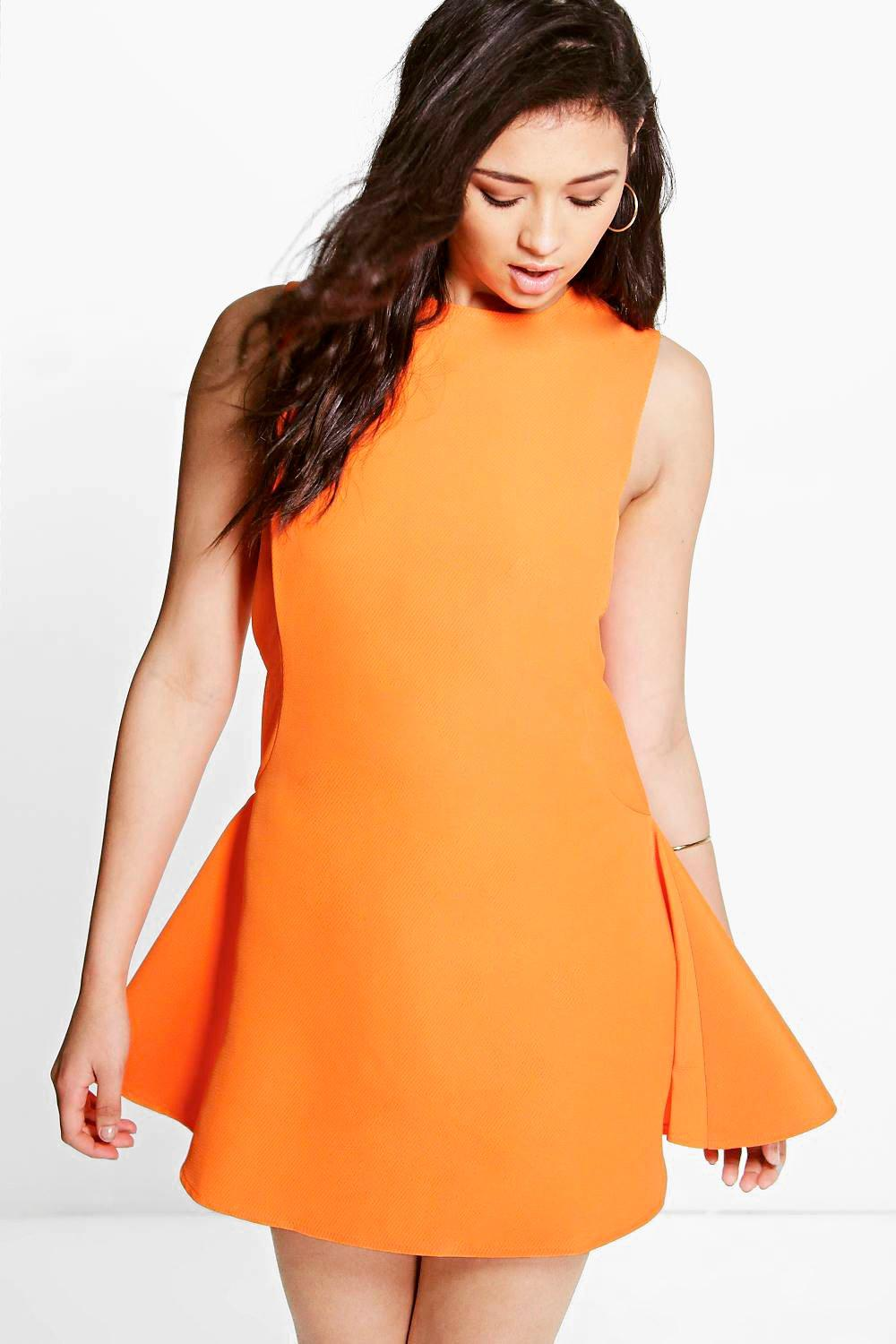 Boutique Sia Sporty Textured Fit & Flare Dress