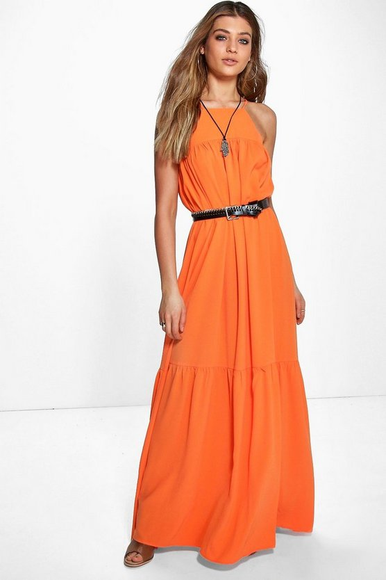 Brianne Square Neck Bubble Crepe Dress