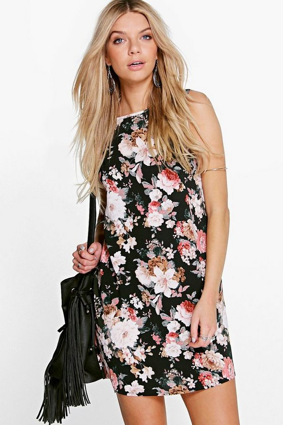 Lexi Floral Print Woven Shift Dress