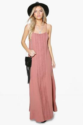 Alice Crochet Panel Woven Maxi Dress
