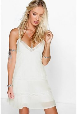 Sonia Lace Insert Woven Slip Dress