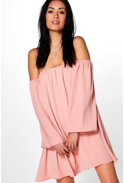 Rosalinda Off The Shoulder Woven Dress