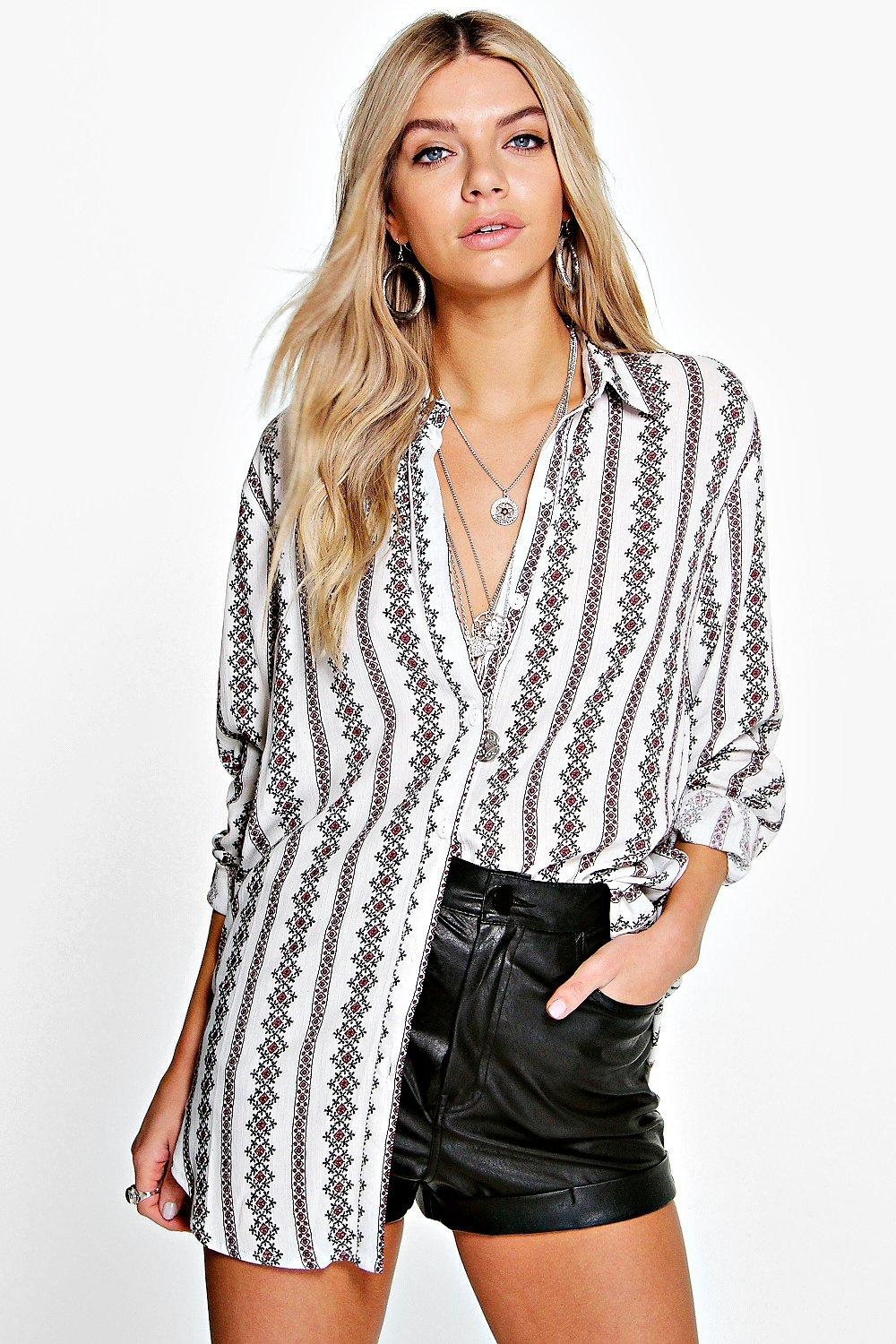Bella Printed Oversized Shirt