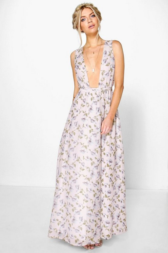 Anouk Floral Chiffon Wrap Maxi Dress