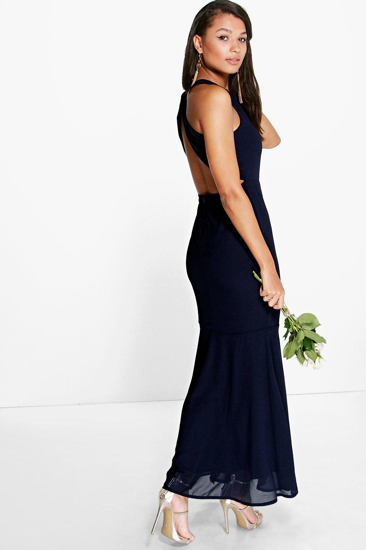 Wonderful Women39s Chiffon Spaghetti Strap High Slit Evening Maxi Dress  WEROA