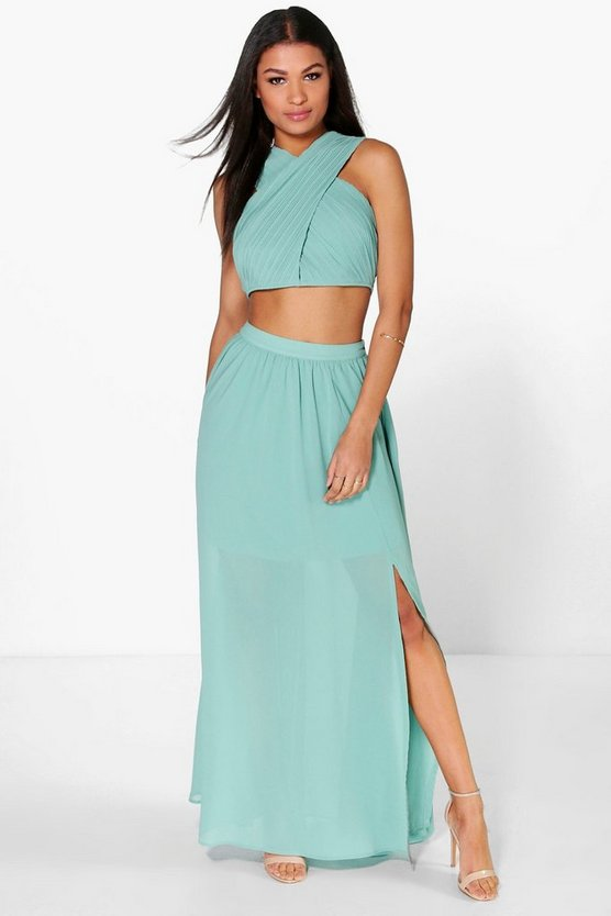 Boutique Satya Chiffon Maxi Skirt Co-Ord Set
