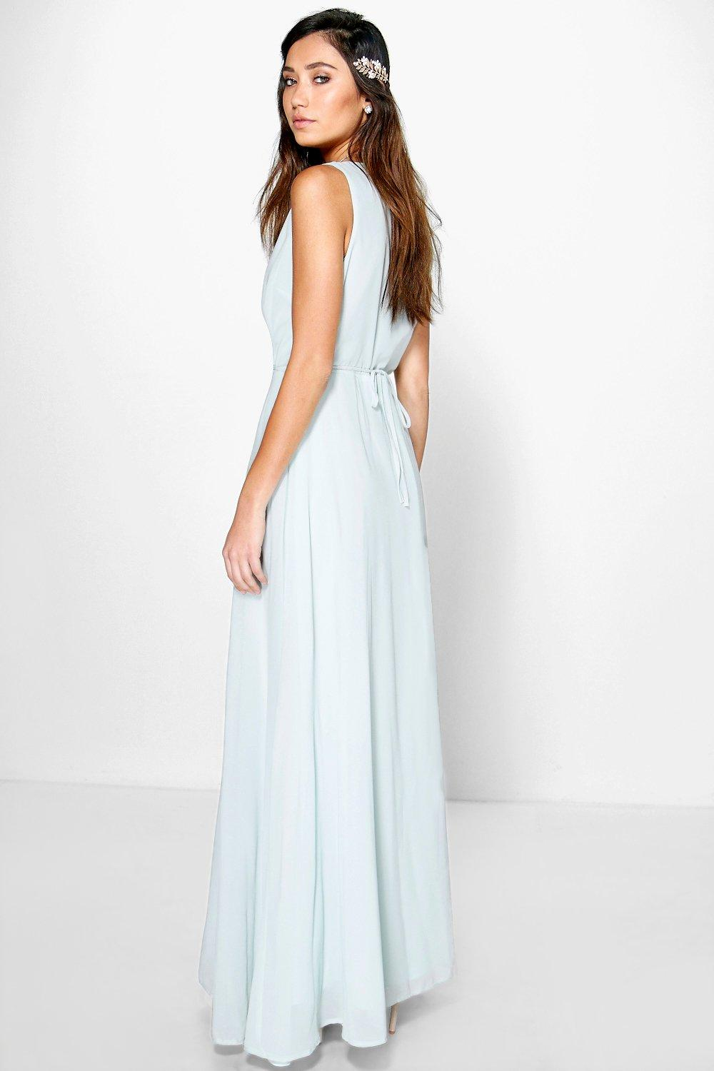 Eloise Wrap Front Chiffon Maxi Dress | Boohoo