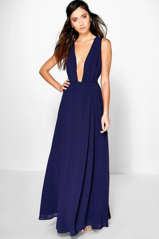 Eloise Wrap Front Chiffon Maxi Dress