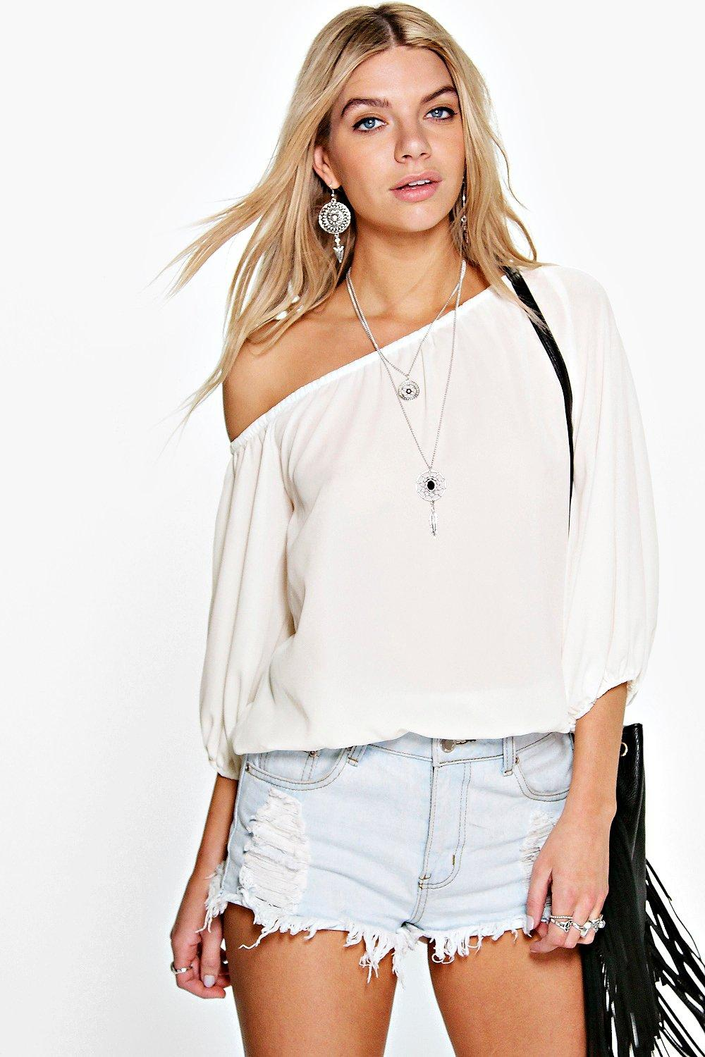 Willow One Shoulder Woven Top