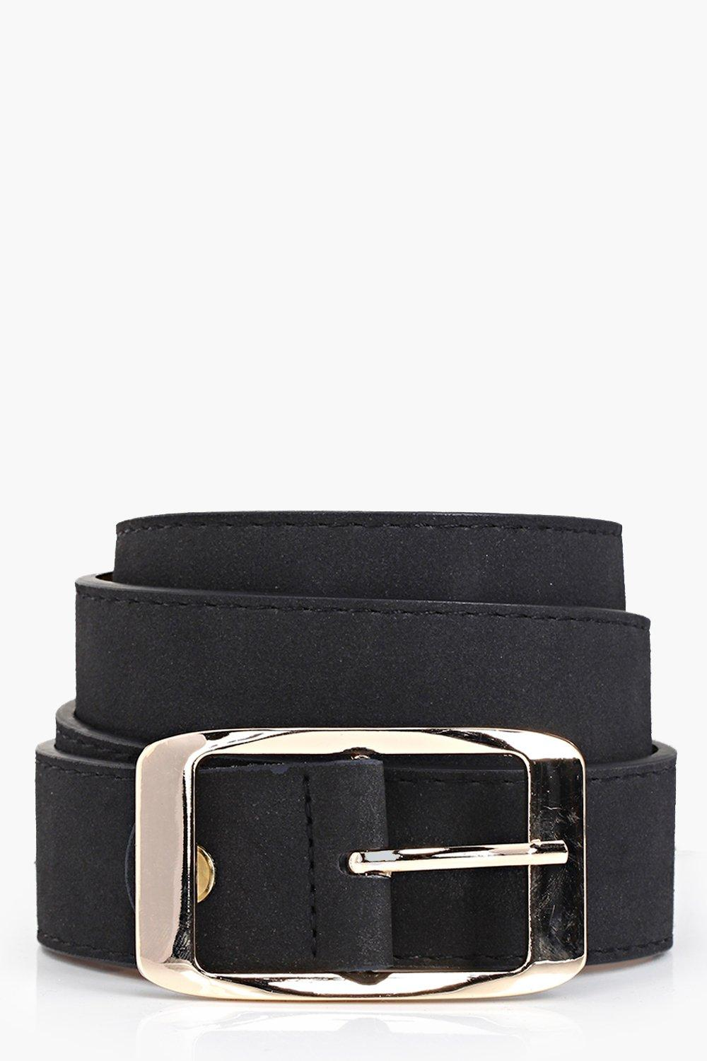 Suedette Chunky Boyfriend Belt - black - Customise