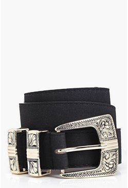 Alice Suedette Metal Tipped Western Belt