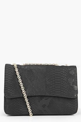 Mia Snake Effect Boxy Cross Body Bag