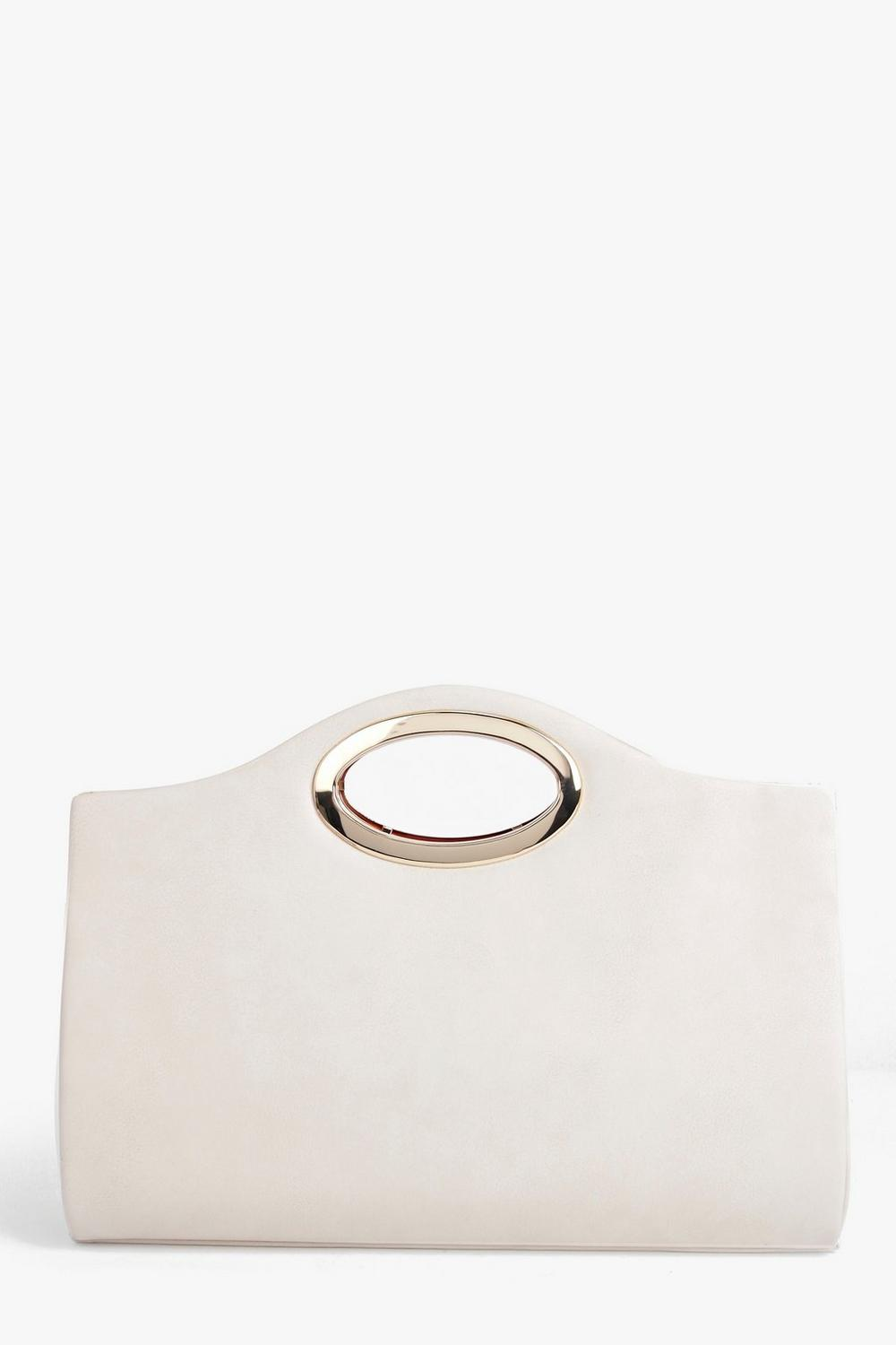 Leah Metal Opening Oversized Clutch Bag