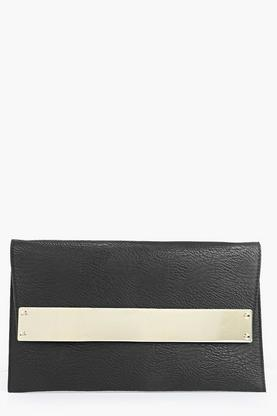 Keira Metal Bar Fold Over Clutch Bag