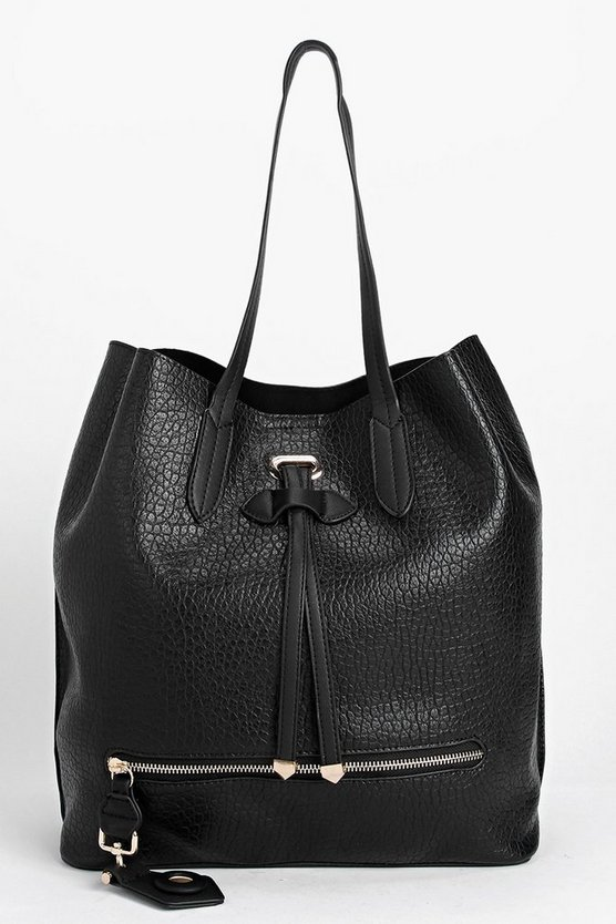 Heidi Zip Detail Shopper Bag