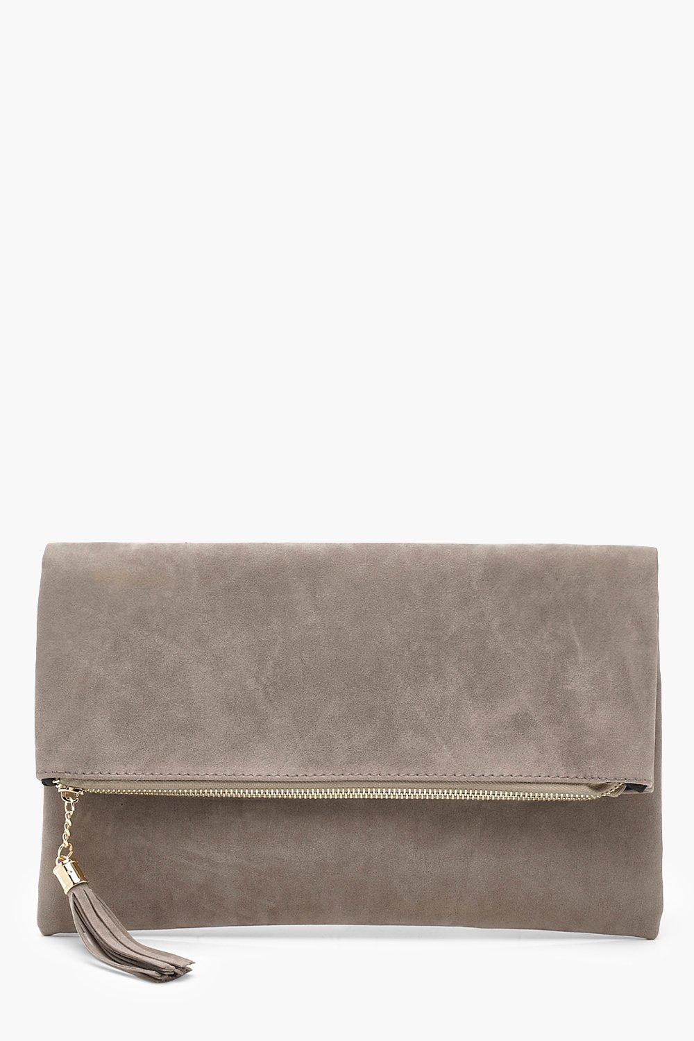 Sofia Suedette Fold Over Clutch Bag