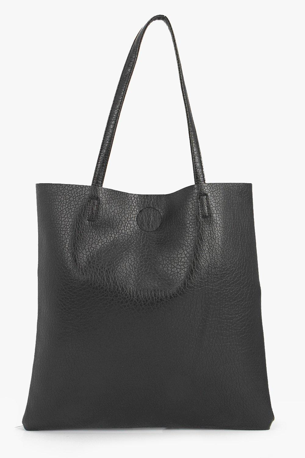 PU Shopper Bag - black - A bag will make sure you