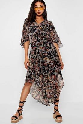 Hayley Hem Paisley Maxi Dress