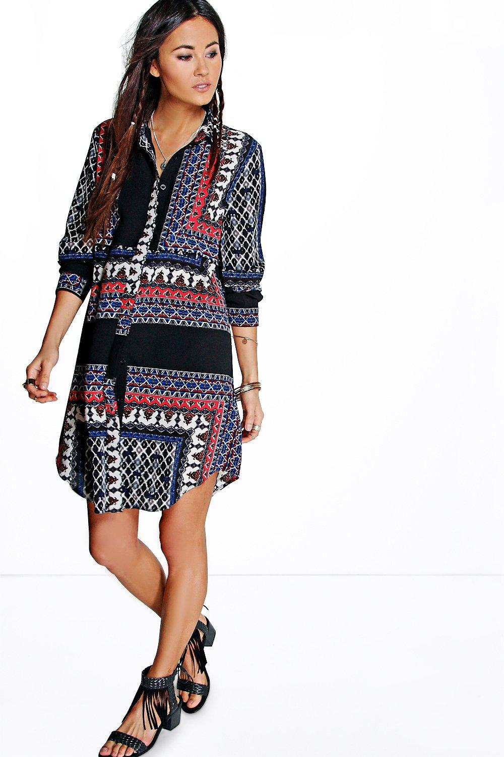 Noelia Paisley Print Shirt Dress